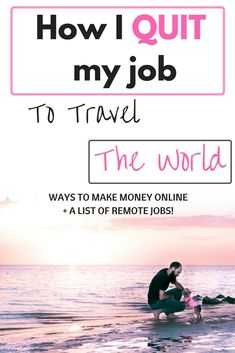 Use the very methods we used to quit our job and travel the world. No more excuses. It's time to make money online and live the life you deserve! Learn to make income online through various easy methods #freedom #onlinebusiness #onlinejobs #remotejobs #workfromhome #travellife #fireyourboss
