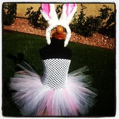 Bunny Tutu Dress, perfect for Easter! By Cali Cute Tutus Your little girl will be center of attention in this adorable outfit! Find more like this at www.facebook.com/CaliCuteTutus or follow us on Instagram Cali_Cute_Tutus