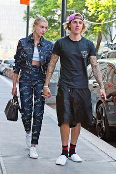Estilo Hailey Baldwin, Hailey Baldwin Style, Haley Baldwin, Peinado Justin Bieber, Fashion Couple, Girl Fashion, Celebrity Couples, Celebrity Style, Justin Bieber Images