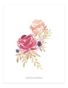 Created from an original watercolour painting by Victoria Bilsborough. Watercolor Projects, Watercolor Artwork, Watercolor Cards, Watercolor Flowers, Watercolor Ideas, Christmas Phone Wallpaper, Artist Art, Flower Prints, Rose Drawings