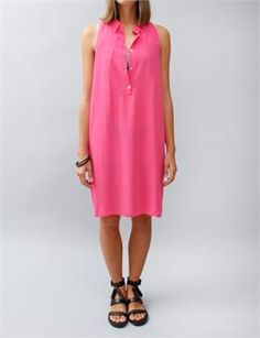 Acne Beverly Tank Dress - Bright Pink