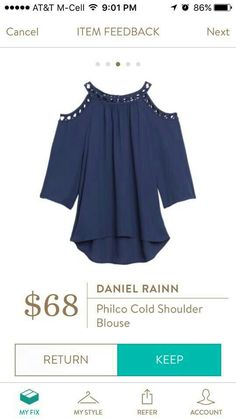 I like this...I've wanted to try the cold shoulder/off the shoulder trend