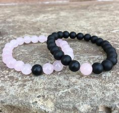 3691dfaf93ea 2 PC SET! Distance Bracelets - Pink and Black FREE SHIPPING – Galaxy  Accessories Pulseras