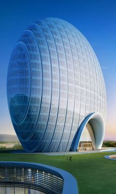Designed by Shanghai Huadu Architect Design Co., Sunrise Kempinski Hotel, Beijing embodies the shape of the rising sun and symbolises harmony, unity and In China, Shanghai, Interior Architecture, Interior And Exterior, Kempinski Hotel, Eco Buildings, Steam Generator, Hotel Guest, Hotels