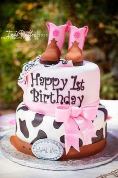 Cowboy Themed First Birthday Party – Corner Stork Baby Gifts - Specialty Baby Gifts Cowgirl Birthday Cakes, Rodeo Birthday Parties, Cowgirl Cakes, First Birthday Themes, Themed Birthday Cakes, Farm Birthday, 1st Birthday Girls, First Birthdays, 1st Birthday Party Ideas For Girls