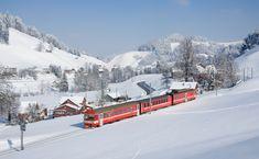 Appenzeller Bahnen (AB) in Switzerland Urnäsch (AR) Locomotive, Swiss Railways, Train Journey, Berg, Train Travel, Adventure Is Out There, Dream Vacations, Switzerland, Places To See