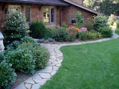 Stone Edging, does double-duty as a path! <3