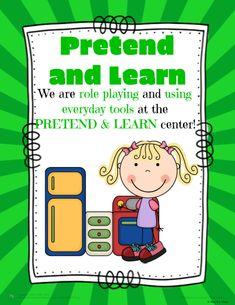 Pre-K Kinder Center Signs Preschool Labels, Classroom Labels, Classroom Tools, Preschool Songs, Classroom Rules, Classroom Posters, Preschool Classroom, Preschool Learning, Classroom Themes