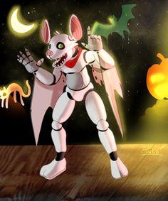 Bitty the Bat [HeiyaPumkin] Fnaf Oc, Chuck E Cheese, Animal Costumes, Five Nights At Freddy's, Amazing Art, My Arts, Halloween, Illustration, Anime