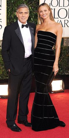 Golden Globe Awards 2013, Red Carpet : People.com  George Clooney and Stacy Keibler