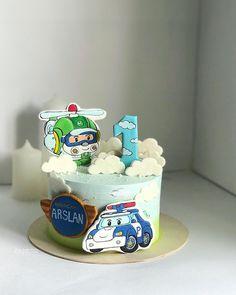 Baby Birthday Cakes, 2nd Birthday, Robocar Poli, First Birthdays, Cake Decorating, Desserts, Inspiration, Food, Costume