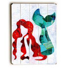 Mermaid by Artpop Art Wood Sign
