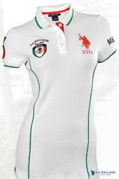 U.S. Polo Assn. Women's Mexico Polo Shirt-White