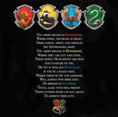Harry Potter House Poem