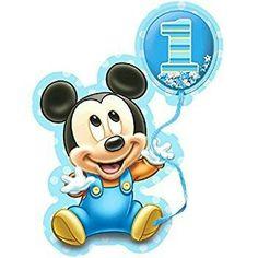 Amscan Disney Baby Mickey's Birthday Deluxe Jumbo Postcard Invitation Piece), X Blue Bolo Mickey Baby, Festa Mickey Baby, Theme Mickey, Mickey Party, Minnie Mouse Party, Mickey 1st Birthdays, Mickey Mouse Birthday Invitations, Mickey Mouse First Birthday, 1st Boy Birthday