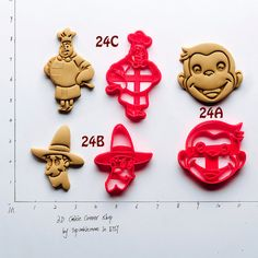 Curious George Cookie Cutter curious george by TopCookieMore
