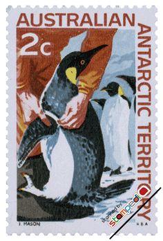 penguin - Australia stamp