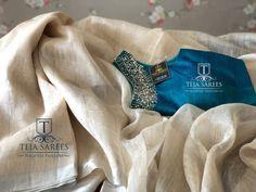 Teja Sarees, Checks Saree, Silk Saree Blouse Designs, Stylish Blouse Design, Saree Trends, Casual Saree, Elegant Saree, Fancy Sarees, Work Blouse