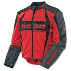 Icon Arc Jacket Red Size XL 2820 1119 Ecklund Motorsports