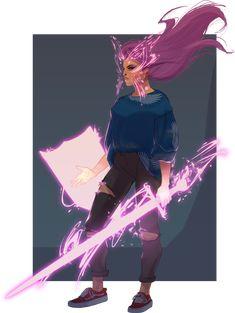 Psylocke by UltimateTattts on DeviantArt Fantasy Character Design, Character Design Inspiration, Character Concept, Character Art, Concept Art, Fantasy Kunst, Fantasy Art, Dnd Characters, Fantasy Characters