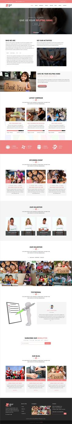 HelpMe is clean and modern design 2in1 responsive #HTML5 template for #charity, donation and #nonprofit organization website download now >  https://themeforest.net/item/helpme-nonprofit-donation-charity-html5-template/19983795?ref=Datasata