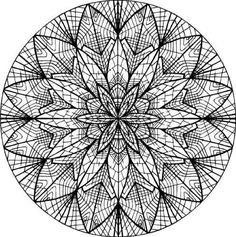 Copy & Paste into a Word Document.  PAGE SET-UP as Zero margins.  Center and stretch picture to fit paper. Mandala Coloring Page