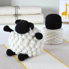 "Baa! A Luxury Bobble Sheep Amigurumi Crochet Kit - Looks Similar to ""Shirley"" from ""Shaun the Sheep"""