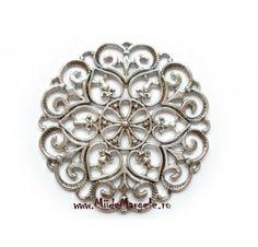 Chandelier/pandativ rotunde argintiu, dimensiuni 63x2mm, 1 buc