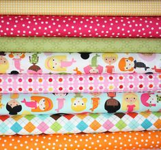 Girlfriends Mermaid quilt or craft fabric bundle by fabricshoppe, $22.00