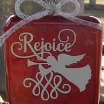 """This+listing+is+for+one+square+glass+Christmas+ornament+that+is+approx.+3.5""""+square,+with+the+glitter+inside+so+you+have+no+mess.++The+detail+is+simply+the+word+""""Rejoice""""+and+an+angel+on+the+front.++The+detail+can+be+done+in+white,+gold,+or+silver.++The+ornament+itself+comes+in+red,+blue,+green,+..."""