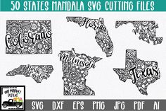 50 States Mandala SVG Bundle – State SVG Cut FileThis bundle includes all 50 US States and as a bonus,... Breast Cancer Quotes, Free Wallpaper Backgrounds, Cartoon Clouds, Monthly Budget Planner, Mug Art, Vinyl Quotes, Book Folding, 50 States, Svg Cuts
