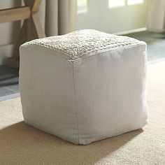 Gibson Embroidered Pouf #birchlane