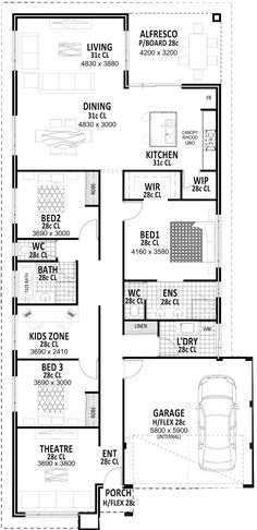 like the 2nd & 3rd bedroom design Aston - The Stylish Entertainer | Vision One Homes