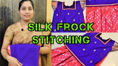 This video explained How to make Latest Kids Pattu Pavadai Blouse & Frock Cutting & Stitching.