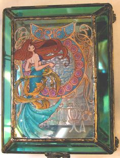 Disney The Little Mermaid Art Nouveau Ariel Jewelry Box Trinket of Princess RARE | eBay