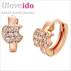 Find More Stud Earrings Information about Charms Sliver Earrings New 2016 Fruit Crystal Rose Gold/Platinum Plated Stud Earrings for Mother's Day/Easter Gift Kids R523,High Quality earrings leopard,China earring holder jewelry display Suppliers, Cheap earings display from ULove Fashion Jewelry Store on Aliexpress.com