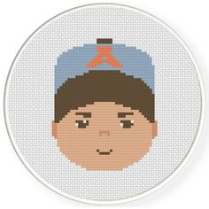 FREE for July 11th 2016 Only - Cute Boy Cap Cross Stitch Pattern