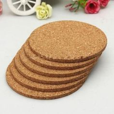 Terracotta Pot Bottoms Paint And Corkcoasters Diy Pinterest - Cork coaster bottoms