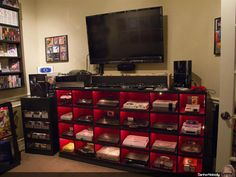 The Ultimate Video Game Setup. Something my love would enjoy