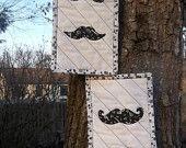 Mustache Mini Quilt -  via Etsy.