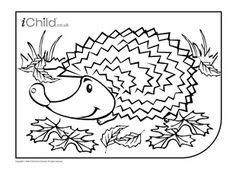This fantastic hedgehog collage activity, is perfect for
