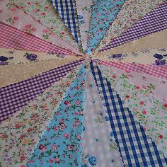 Fabric-Bunting-banner-Wedding-Fete-Country-Floral-Vintage-Chic-Christmas-Party