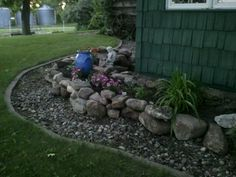 This spring I added the final corner to the rock garden