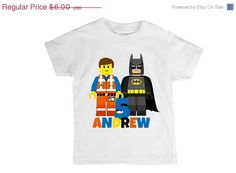 ON SALE DIY Iron On Transfer Design Lego by PartyPoshPrintables, $4.50