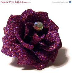 glittery stuff | Purple Glitter Ring by GemsTheWord