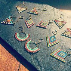 Seed Bead Jewelry, Bead Jewellery, Seed Bead Earrings, Beaded Earrings, Beaded Jewelry, Handmade Jewelry, Seed Beads, Loom Beading, Beading Patterns