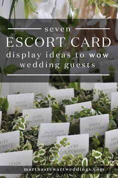 7 Escort Card Display Ideas to Wow Wedding Guests   Martha Stewart Weddings