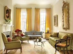 Traditional Living Room by Thomas Jayne Studio in Philadelphia, Pennsylvania