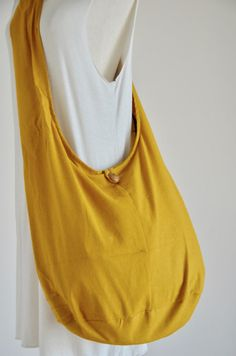Yellow Mustard Cotton Messenger Bag Shoulder Bag Handbags