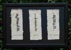 Ogham Celtic tree alphabet - Health, Love & Happiness